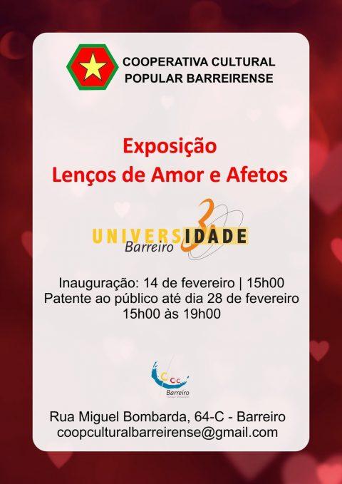 """Exposição """"Lenços de Amor e Afetos"""" pela Turma de Bordados Regionais da UTIB"""